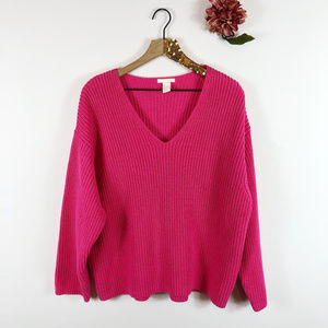 [H&M] Heavy Knit V-Neck Pullover Sweater